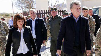 En el norte. Macri y Bullrich, ayer en Jujuy, en la puesta en marcha del Plan Fronteras Protegidas.