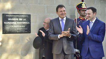 Inauguración. El intendente Raimundo y el concejal Ore, en la apertura del circuito.