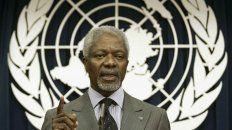 Años de gestión. Kofi Annan fue secretario general de la ONU desde 1997 hasta 2006.