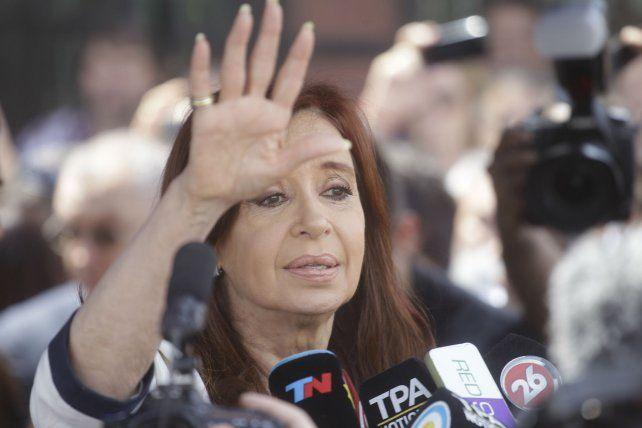 Al frente. Cristina Fernández no logró evitar un clima complicado en el kirchnerismo.
