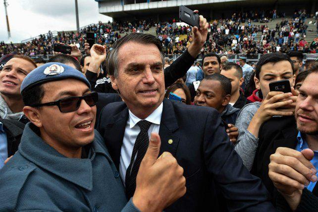 Avance ultraderechista. El diputado y ex militar Jair Bolsonaro lidera las preferencias