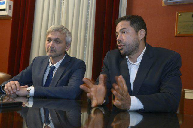La fórmula. El oficialismo definió que los principales candidatos serán Di Pollina y Carloni.