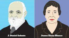 J. Daniel Infante y Juana Elena Blanco, las primeras entregas.