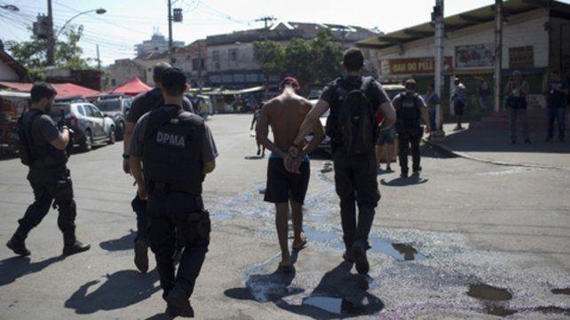 Militares. Actuaron en las favelas.