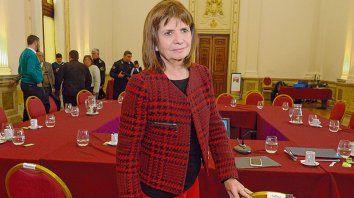 Gobernacion. Patricia Bullrich estuvo el pasado viernes 10 en Rosario, justo cuando se conoció otro ataque.