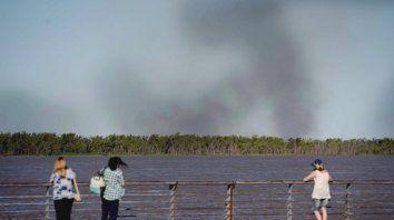 Cada vez más humo en Rosario por las quemas en las islas