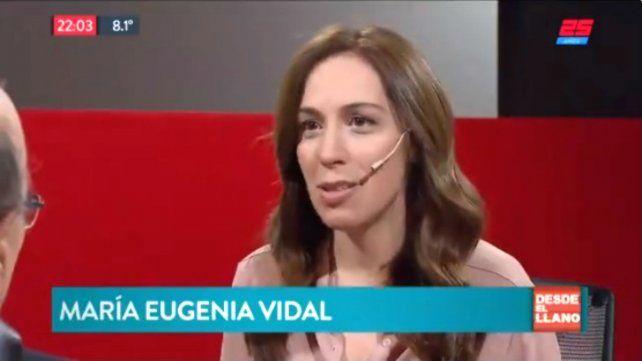 Vidal: No imagino un proceso así en una presidencia de Scioli