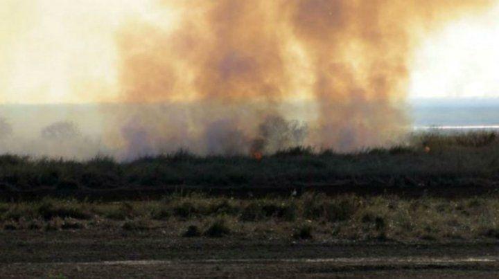 Preocupación por la quema de pastizales en la zona de las islas.