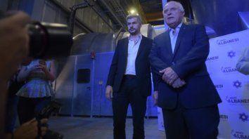 Contactos. Peña y Lifschitz, en marzo pasado, durante el acto de inauguración de una usina en Timbúes.