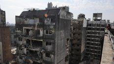 impactante. Así quedó parte del edificio tras la explosión en 2013.