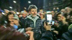 alfredo casero, ovacionado en la marcha al congreso
