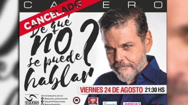 Censuraron la obra de Casero en Salta por desacuerdo con sus dichos sobre la dictadura