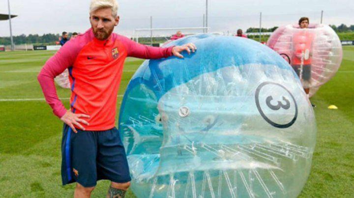 Llegaron a Rosario las burbujas chocadoras con las que juega Messi