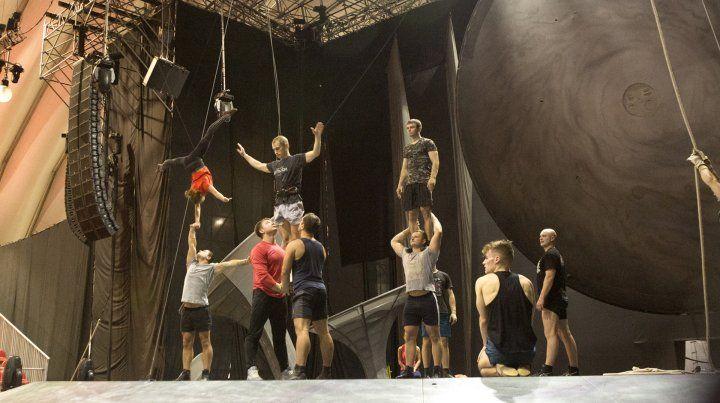 Las fotos de la intimidad del Cirque du Soleil en Rosario
