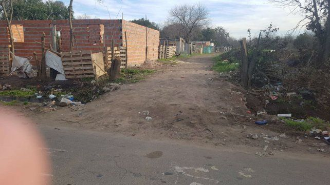 El lugar donde se produjo la balacera que terminó con una persona muerta.