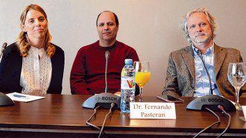 Presentación. Fue en Buenos Aires la semana pasada. Hablaron los médicos Pein, Pasteran y Nacinovich.