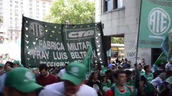 La protesta de Fabricaciones Militares se hizo sentir en Capital