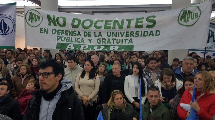 Los no docentes le dieron un fuerte respaldo a la lucha de la universidad pública