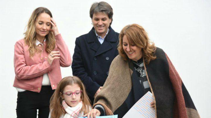 La intendenta Mónica Fein acompañó a Brisa