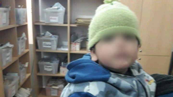 El nene estaba en buen estado de salud y quedó a disposición de la Justicia.