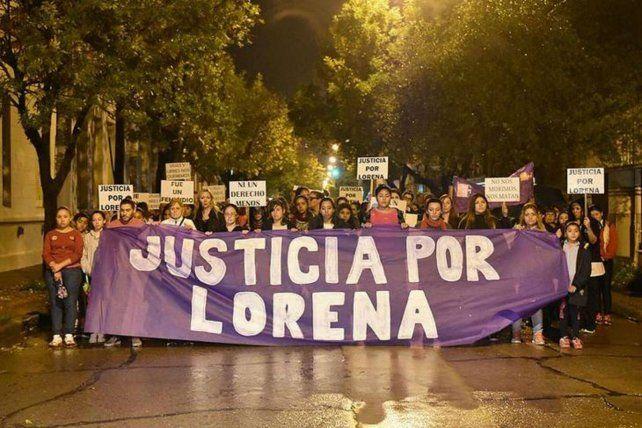 Movilizados. El caso de Lorena generó marchas de vecinos en reclamo de Justicia.