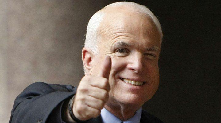 Héroe de guerra. McCain es uno de los republicanos más críticos a Trump.