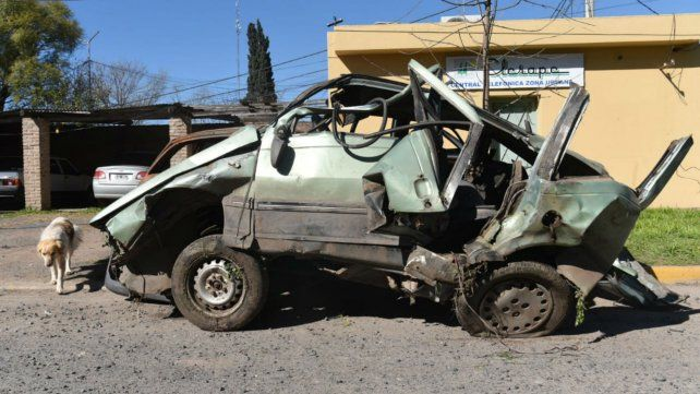 El Fiat Weekend en el que viajaban las víctimas fatales.