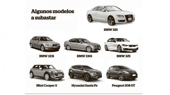 Rematarán 20 autos que fueron decomisados a bandas delictivas