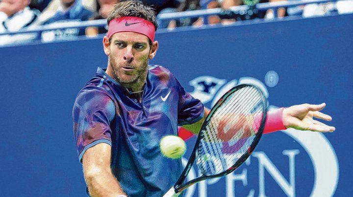 En la pelea. Juan Martín se mostró en gran versión el año pasado. Eliminó a Federer en cuartos y luego cayó con Nadal.