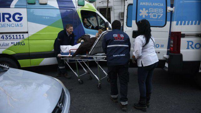 La mujer fue llevada en una ambulancia del Sies al Heca.