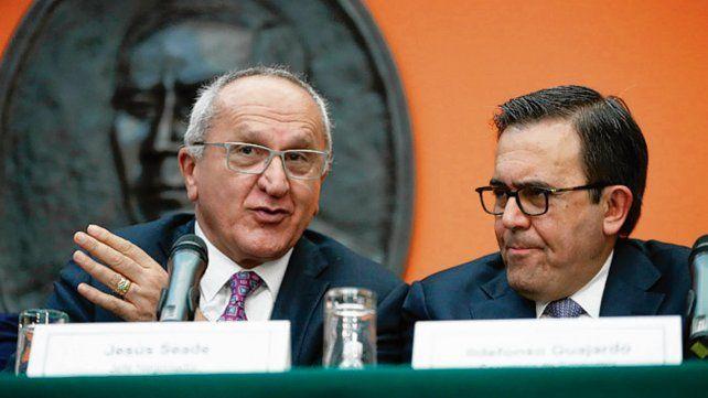 Conformes. Los mexicanos Jesús Seade e Ildefonso Guajardo.