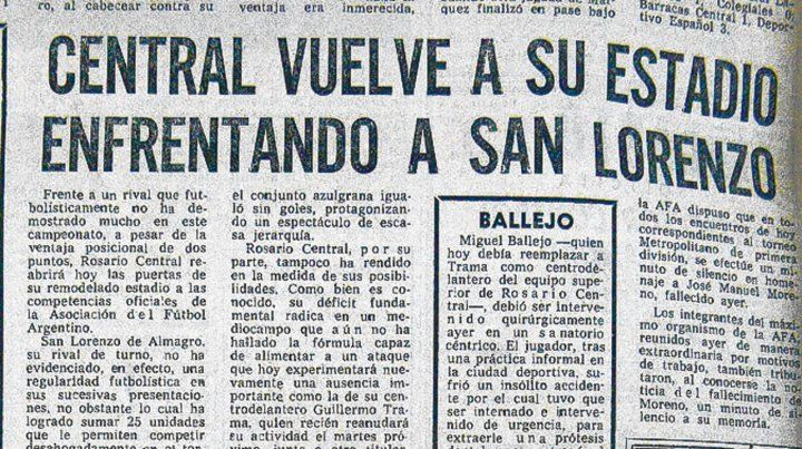 Recuerdo. Las columnas de La Capital inmortalizaron la jornada histórica del 78.