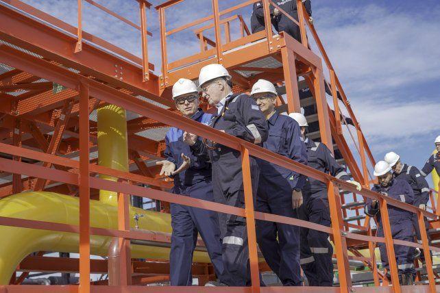 El presidente Mauricio Macri y el titular de Techint Paolo Rocca