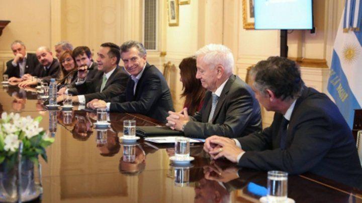 Cumbre. El presidente Mauricio Macri recibió ayer a unos veinte  rectores
