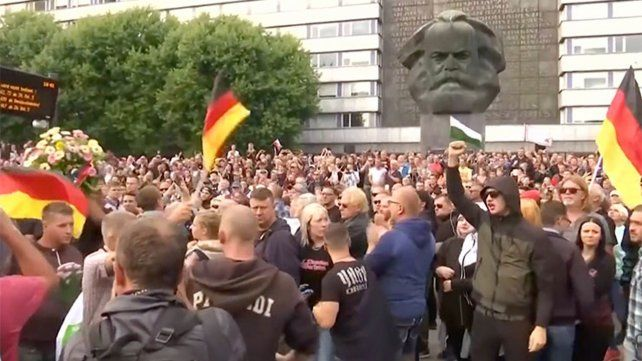 Alemania lleva días en tensión tras una manifestación ultraderechista y  de tintes xenófobos convocada a través de las redes sociales en la  ciudad oriental de Chemnitz.
