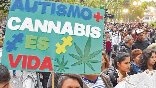 Reclamo. Una de las tantas marchas en las que se exigió en Rosario el uso medicinal del cannabis.