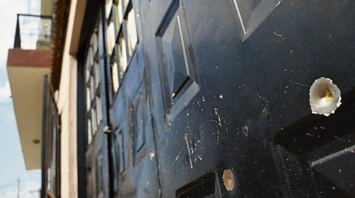 Seis tiros. La vivienda de Doctor Riva al 3200 fue baleada ayer a la mañana.