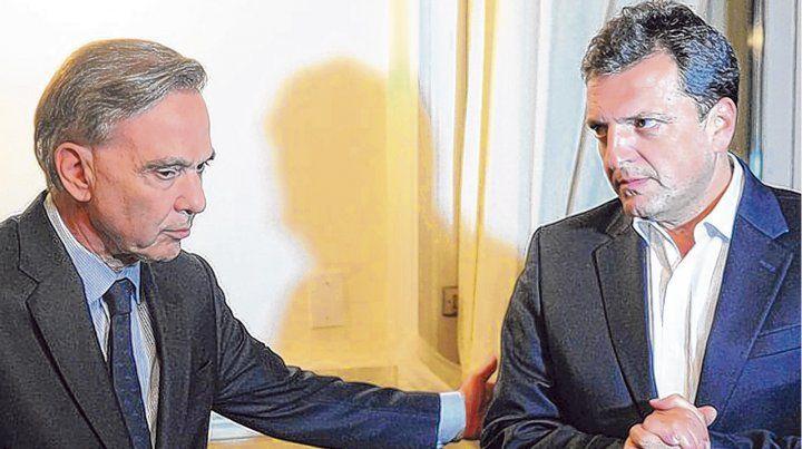 Tándem. Massa y Pichetto tienden puente con gobernadores del PJ y también con la CGT.