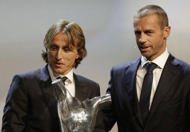 Modric destronó a Cristiano como el mejor jugador de la Uefa