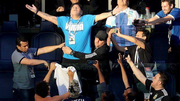 Maradona encontró al autor del audio que lo dio por muerto en el Mundial