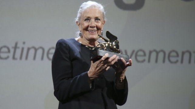 compromiso. Vanessa Redgrave recibió el León de Oro por su carrera.