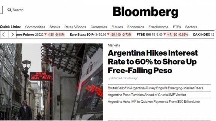 Los principales diarios del mundo hicieron tapa con la debacle financiera