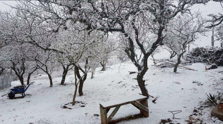 Varias localidades de Córdoba amanecieron cubiertas de nieve