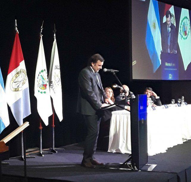 En Rosario. El titular de la CNV participó del 134º aniversario de la Bolsa local.