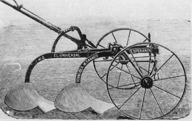 En 1878 Nicolás Schneider fabricó el primer arado nacional para dar respuesta a los inmigrantes.