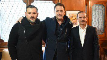 En campaña. Diego Lavezzi, Hernán Marty y Sergio González quieren un Central focalizado en el fútbol.