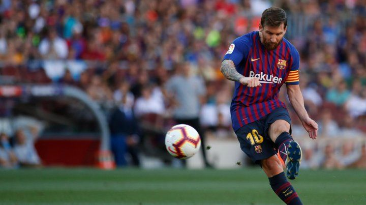 Zurda mágica. Messi hizo dos goles