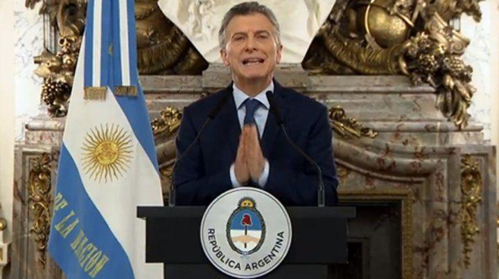 Déficit cero. Macri habló antes de que Dujovne realizara los anuncios.