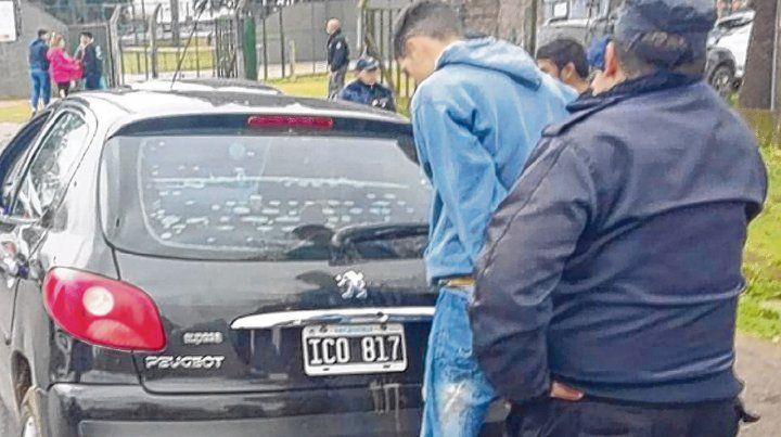 El auto. Un Peugeot 207 negro fue la clave de la investigación en la que ayer imputaron a Brian L.S