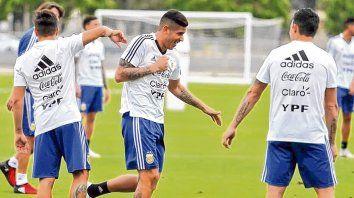 Vuelta al trabajo. Los jugadores albicelestes entrenan en Estados Unidos de cara a los amistosos ante Guatemala y Colombia.